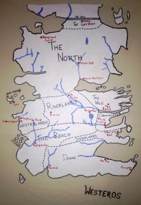 Freehand map of Westeros, done as a materials test.